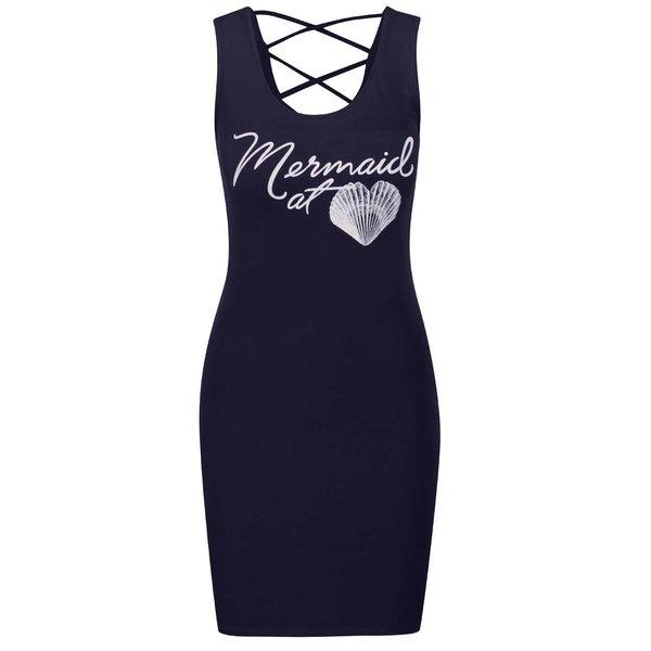 Rochie albastru închis TALLY WEiJL cu print de la TALLY WEiJL in categoria rochii de vară și de plajă