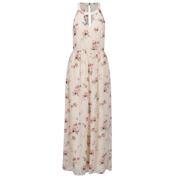 Rochie maxi bej VERO MODA Wilmara cu model floral de la VERO MODA in categoria rochii de vară și de plajă