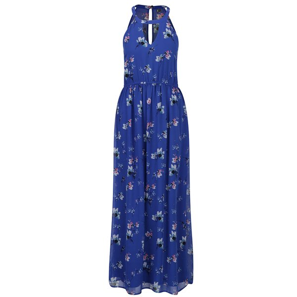Rochie maxi albastră VERO MODA Wilmara cu model floral
