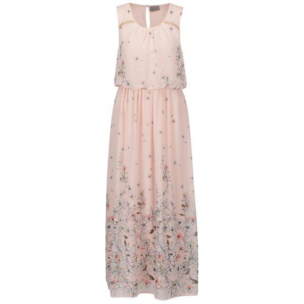 Rochie maxi roz VERO MODA Lea cu model floral de la VERO MODA in categoria rochii de vară și de plajă