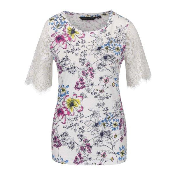 Bluză crem Dorothy Perkins cu imprimeu floral de la Dorothy Perkins in categoria Topuri, tricouri, body-uri