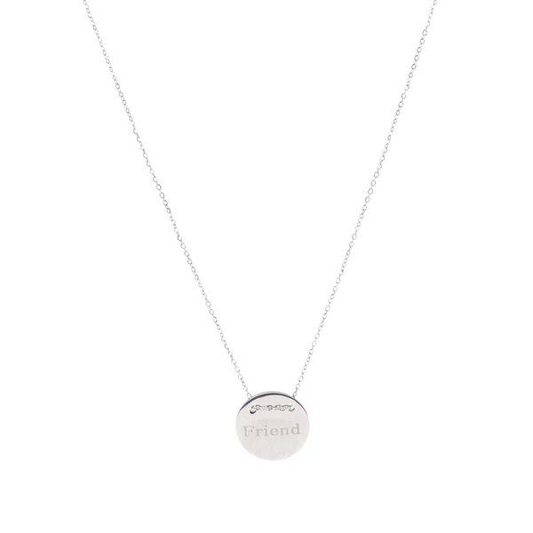 Colier argintiu cu pandantiv cu mesaj Mariesy de la Mariesy in categoria Ceasuri și bijuterii