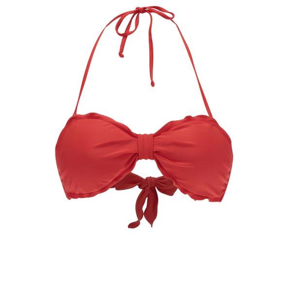 Sutien roșu de baie VERO MODA Anya cu bretea după gât