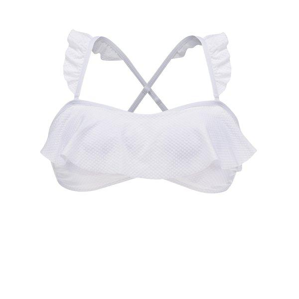 Bustier alb de baie cu volănașe VERO MODA Suzy de la VERO MODA in categoria Lenjerie intimă, pijamale, costume de baie