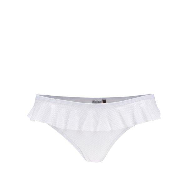 Slip alb de baie cu volănaș suprapus VERO MODA Suzy de la VERO MODA in categoria Lenjerie intimă, pijamale, costume de baie