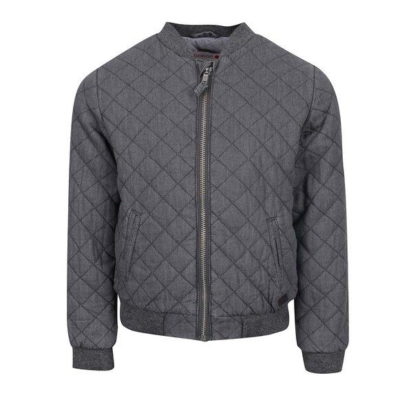 Jachetă bomber gri Boboli cu aspect matlasat pentru fete