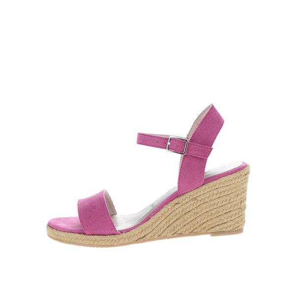 Sandale roz cu platformă din rafie Tamaris de la Tamaris in categoria sandale