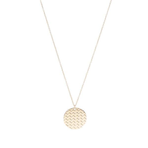 Colier auriu Pieces Joana cu pandantiv rotund de la Pieces in categoria Ceasuri și bijuterii