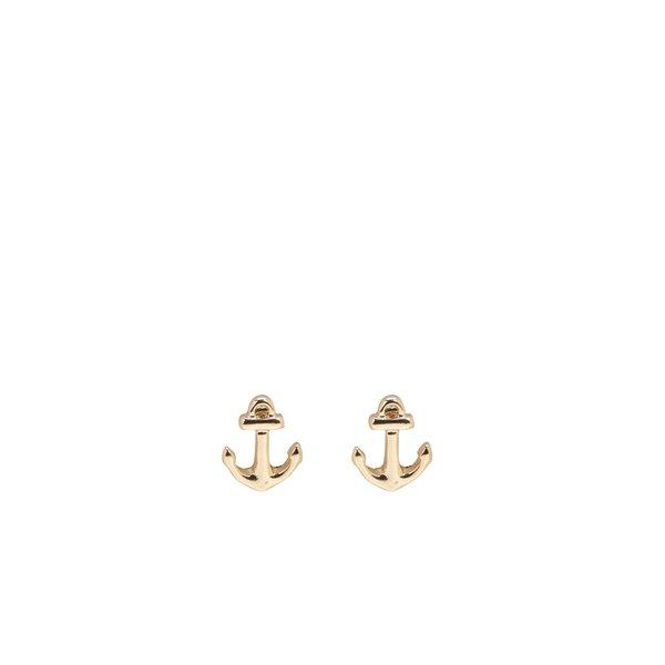 Cercei aurii Pieces Miriam cu formă de ancore de la Pieces in categoria Ceasuri și bijuterii
