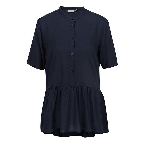 Bluză albastru închis Jacqueline de Yong Safira cu guler rotund de la Jacqueline de Yong in categoria Topuri, tricouri, body-uri