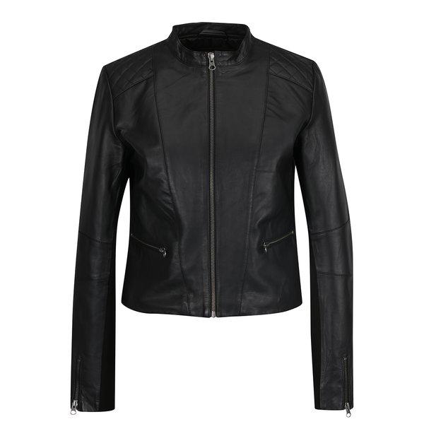 Jacheta neagră VILA din piele