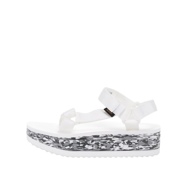 Sandale albe Teva cu talpă wedge de la Teva in categoria sandale