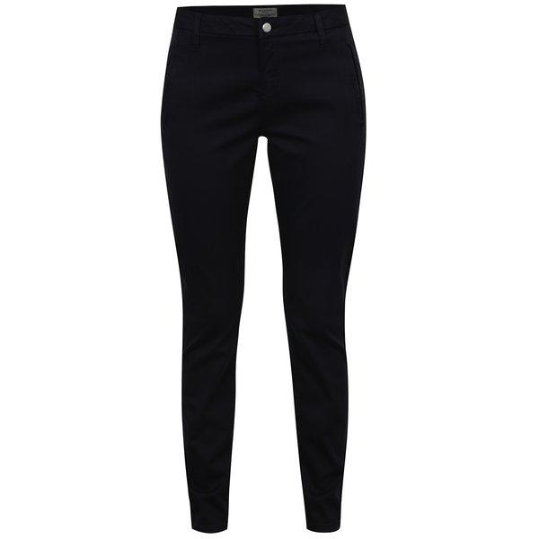 Pantaloni chino bleumarin cu fermoar Selected Femme Ingrid de la Selected Femme in categoria Blugi, pantaloni, colanți