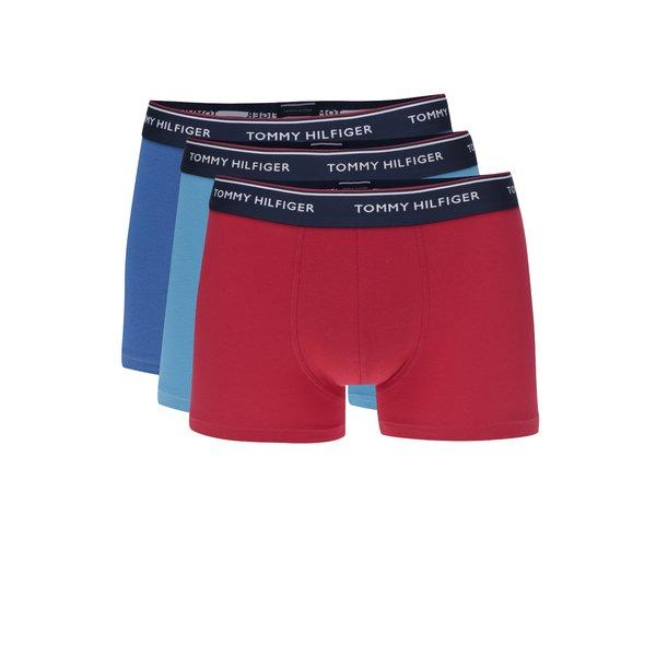 Set de 3 boxeri rosu/ 2 albastru cu print logo Tommy Hilfiger de la Tommy Hilfiger in categoria Lenjerie intimă, pijamale, șorturi de baie