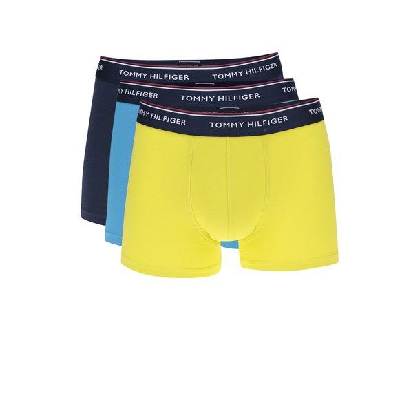 Set de 3 boxeri galben/ 2 albastri cu print logo Tommy Hilfiger de la Tommy Hilfiger in categoria Lenjerie intimă, pijamale, șorturi de baie