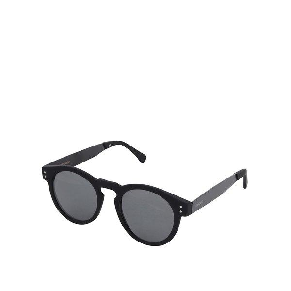 Ochelari de soare unisex cu rama neagră Komono Clement
