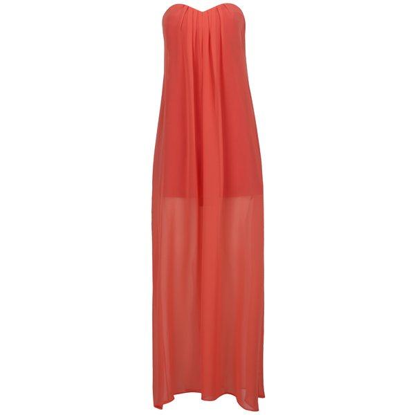 Rochie roz maxi din voal cu dublură scurtă Alexandra Ghiorghie Brodon de la Alexandra Ghiorghie in categoria rochii casual
