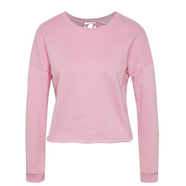 Bluză roz Miss Selfridge Petites cu șnur încrucișat pe partea din spate