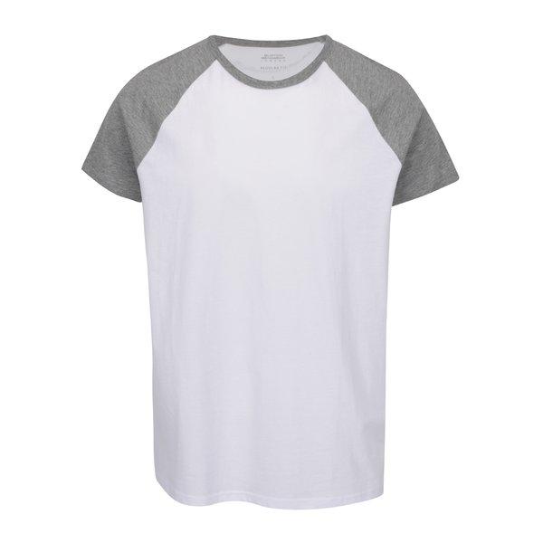 Tricou alb&gri Burton Menswear London cu model