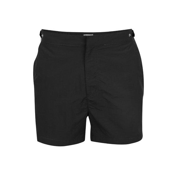 Bermude de plajă negre Burton Menswear London cu buzunare de la Burton Menswear London in categoria Lenjerie intimă, pijamale, șorturi de baie
