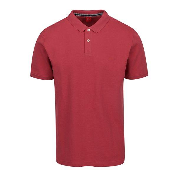 Tricou polo roz închis din bumbac s.Oliver pentru bărbați de la s.Oliver in categoria tricouri polo