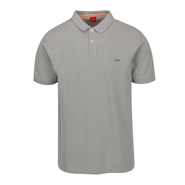 Tricou polo gri din bumbac s.Oliver pentru bărbați de la s.Oliver in categoria tricouri polo