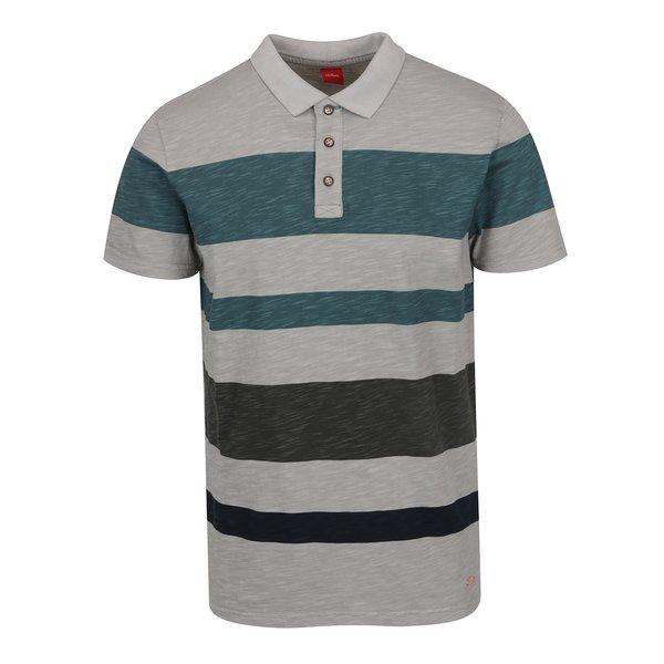 Tricou polo verde&gri cu dungi s.Oliver pentru bărbați de la s.Oliver in categoria tricouri polo