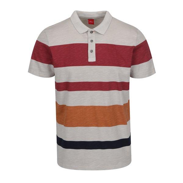 Tricou polo roșu burgundy&gri s.Oliver pentru bărbați de la s.Oliver in categoria tricouri polo