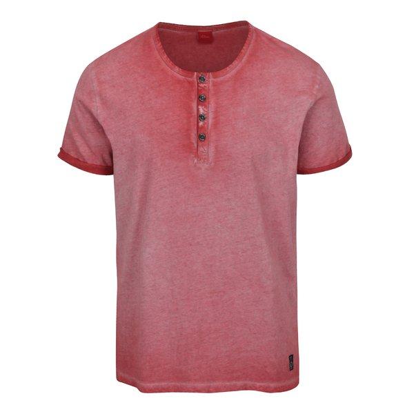 Tricou roșu melanj din bumbac s.Oliver pentru bărbați de la s.Oliver in categoria tricouri