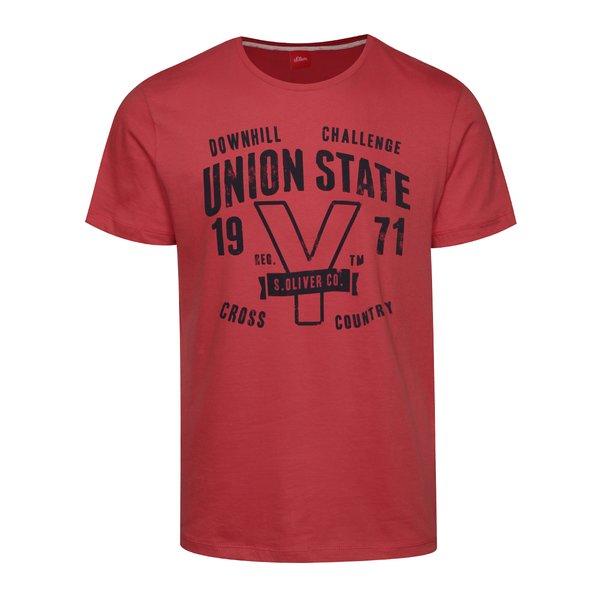 Tricou roz închis din bumbac s.Oliver pentru bărbați de la s.Oliver in categoria tricouri