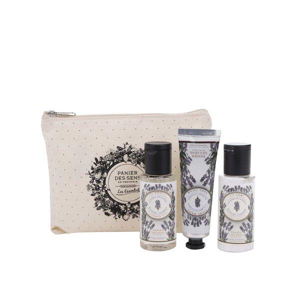 Set de cosmetice cu lapte de corp, gel de duș și cremă de mâini Panier des Sens Levandule de la Panier des Sens in categoria Pentru baie