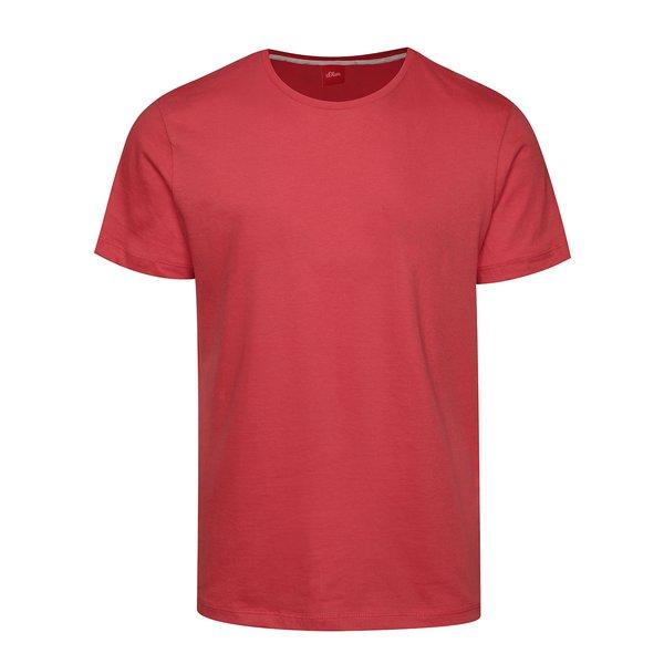 Tricou basic roz închis din bumbac s.Oliver pentru bărbați de la s.Oliver in categoria tricouri