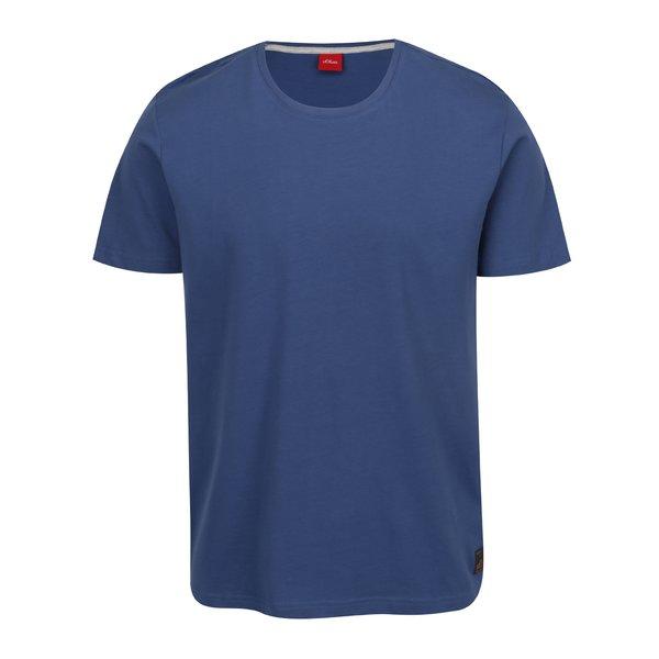 Tricou basic albastru din bumbac s.Oliver pentru bărbați de la s.Oliver in categoria tricouri