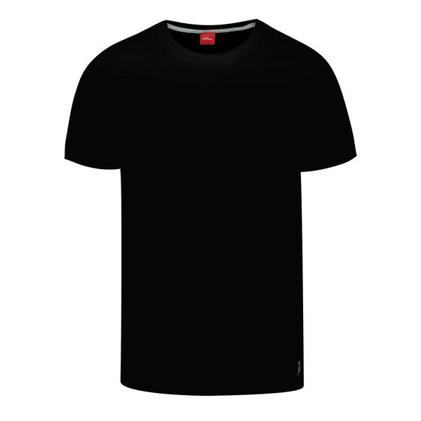 Tricou basic negru din bumbac s.Oliver pentru bărbați de la s.Oliver in categoria tricouri