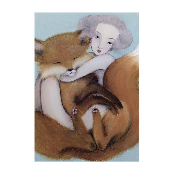 Poster Lisak, in nuante de gri si albastru, Lena Brauner, 50 x 70 cm de la Léna Brauner in categoria CASĂ ȘI DESIGN