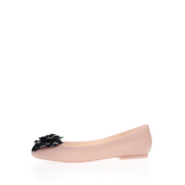 Balerini roz cu detaliu floral negru Melissa Doll Fem