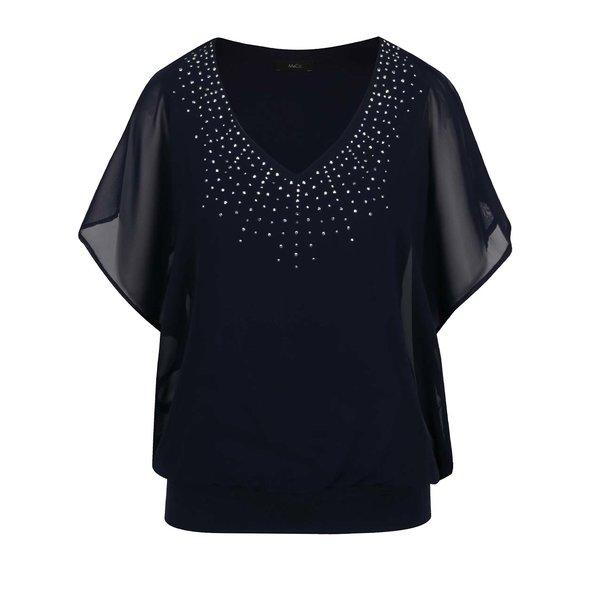 Top albastru închis M&Co cu mâneci clopot de la M&Co in categoria Topuri, tricouri, body-uri