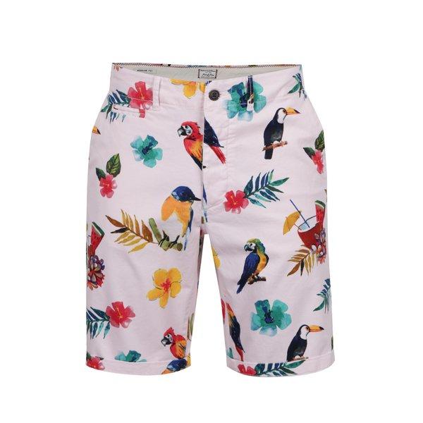 Pantaloni scurți chino roz pal Jack & Jones Graham cu imprimeu floral de la Jack & Jones in categoria Blugi, pantaloni, pantaloni scurți