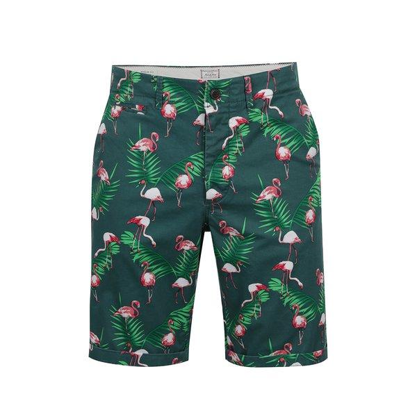 Pantaloni scurți chino verzi Jack & Jones Graham cu imprimeu de la Jack & Jones in categoria Blugi, pantaloni, pantaloni scurți