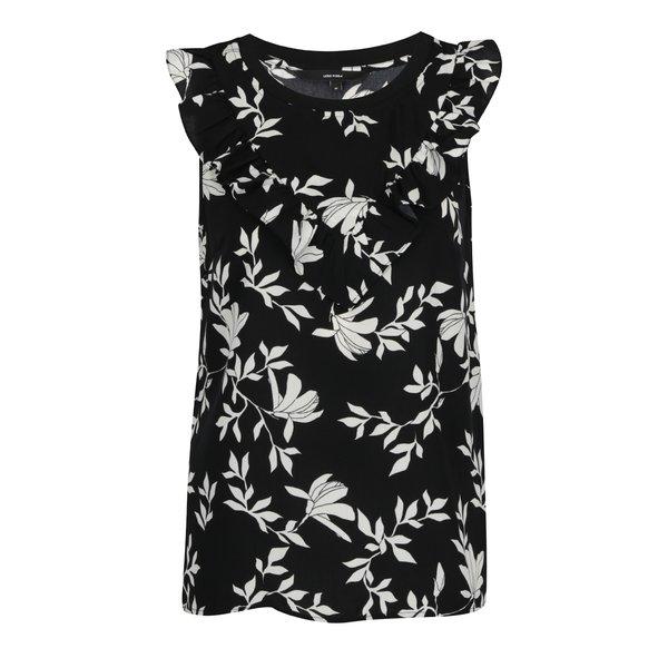 Top negru cu model floral VERO MODA Martha