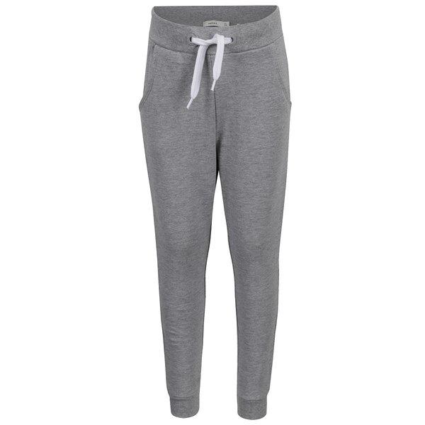 Pantaloni gri sport pentru fete name it Voltano