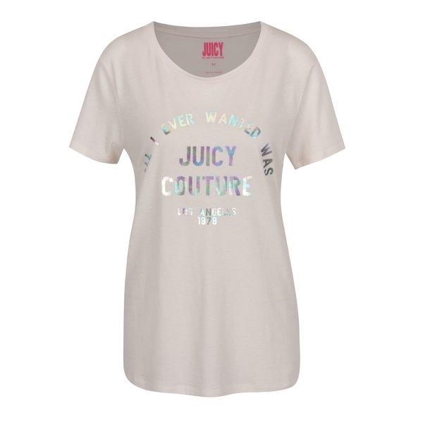 Tricou roz pal Juicy Couture cu print