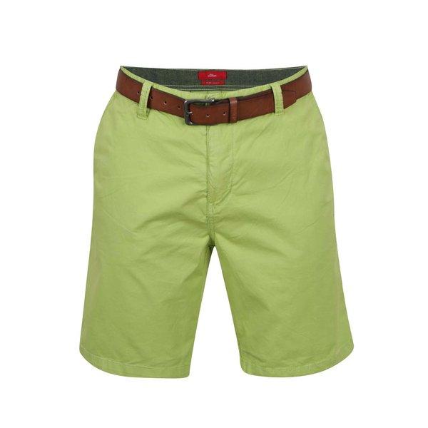 Pantaloni scurți chino verzi s.Oliver de la s.Oliver in categoria Blugi, pantaloni, pantaloni scurți