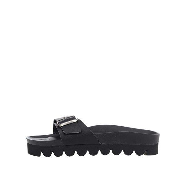Papuci negri Snaha Lima 150 cu talpă comodă de la SNAHA in categoria șlapin