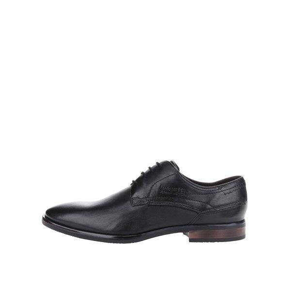 Pantofi negri din piele bugatti Levio
