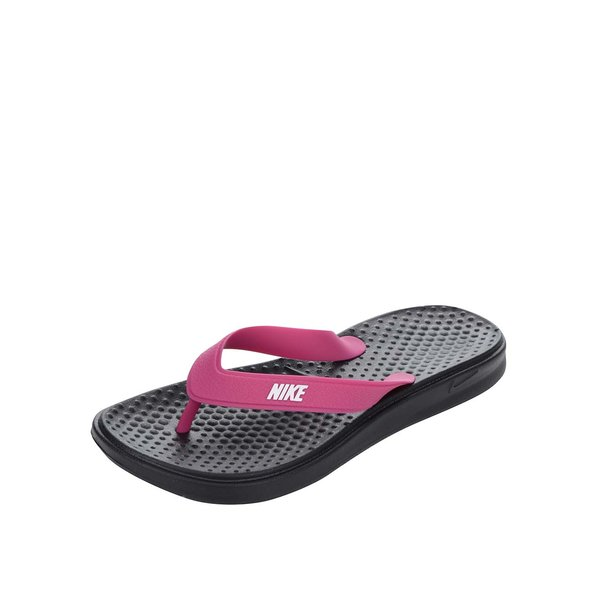 Șlapi negri&roz de damă Nike Solay Thong de la Nike in categoria șlapin