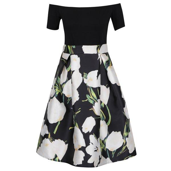 Rochie neagră AX Paris cu imprimeu floral de la AX Paris in categoria rochii de seară