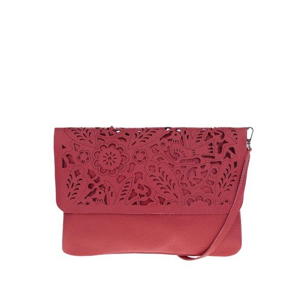 Geantă roșie crossbody din piele ZOOT cu decupaj de la ZOOT in categoria genți mici
