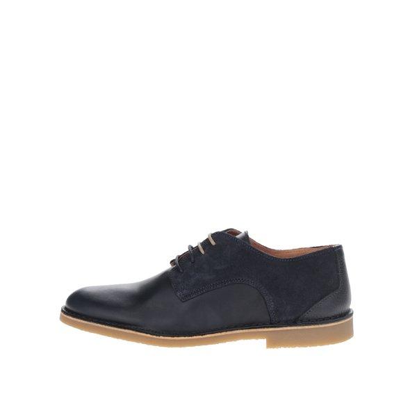 Pantofi negri din piele cu detaliu piele intoarsa Selected Homme Royce de la Selected Homme in categoria pantofi și mocasini