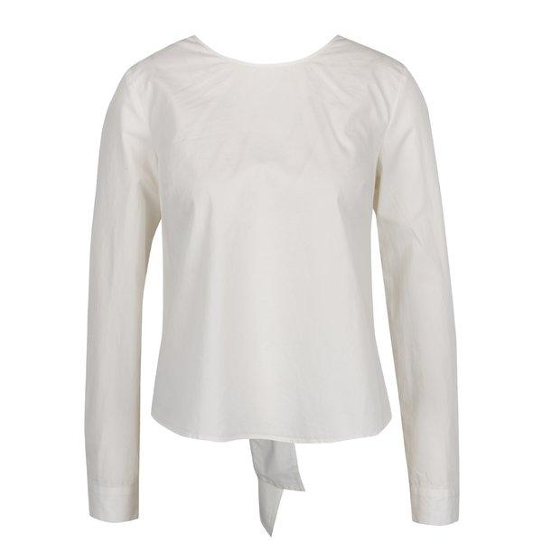 Bluză crem VILA Reset cu decupaj la spate de la VILA in categoria Topuri, tricouri, body-uri